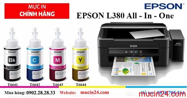 muc in epson l380 - Máy In Phun Epson L310 Không Khởi Động Được