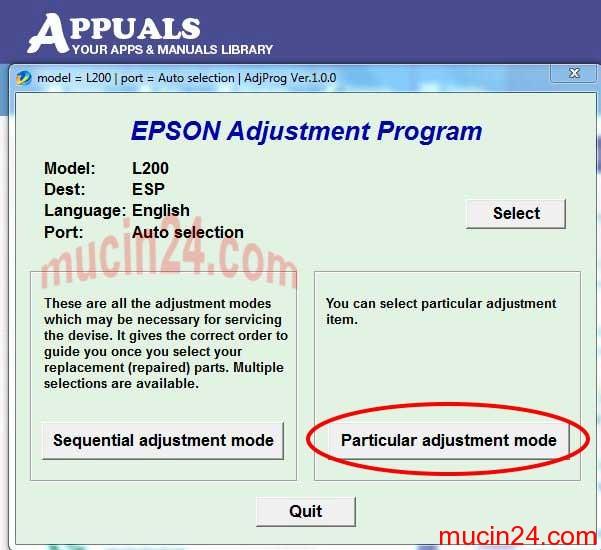 epson l200 reset - Hướng Dẫn Reset Lại Bộ Đếm Mực Epson L200-L300-L310