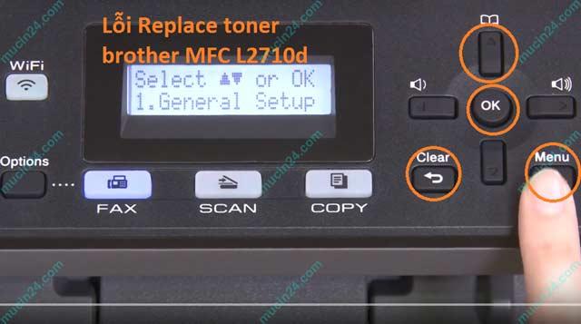 may in bao loi replace toner replace drum 1 - Máy In Báo Lỗi Replace Toner - Toner low - Replace Drum