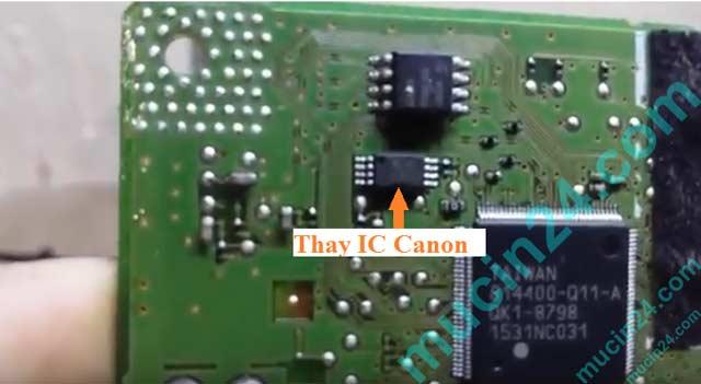 Reset Canon G1000-G2000-G3000 báo lỗi 5B00 tràn mực thải