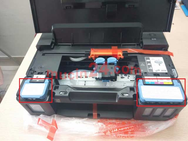 do muc may in canon g1010 g2010 g3010 2 - Đổ Mực Máy In Canon PIXMA G1010- G2010- G3010 | Đổ Mực Máy In Màu