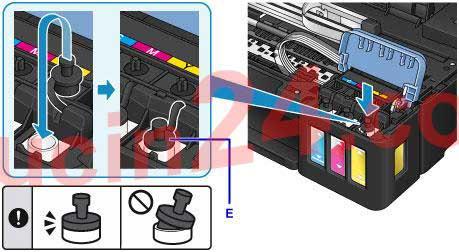 do muc may in canon g1000 g2000 g3000 10 - Đổ Mực Máy In Canon Pixma G1000- G2000- G3000 | Nạp Mực Máy In Màu Canon